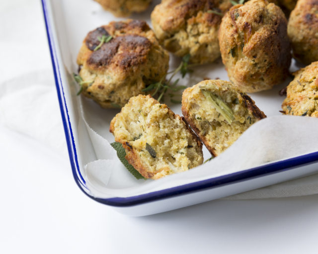 Thyme and sage stuffing balls